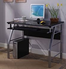 Computer Workstation Desk King S Brand 2950 Glass And Metal Home Office Computer