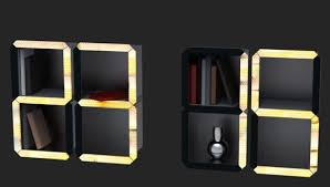Batman Bookcase Digital Time Shelf By Dzmitry Samal Is A Wall Clock That Doubles