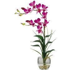 nearly natural 22 in purple dendrobium silk orchid flower