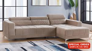 Modern Fabric Sectional Sofas Sectionals Hyde Sectional Sofa
