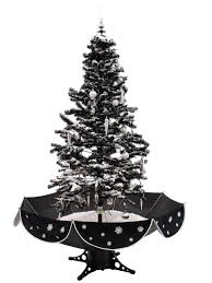 black snowing christmas tree with christmas melodies 83501669 uk