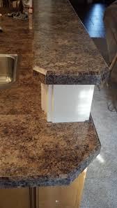 bevel edge laminate countertop trim in formica 7734 jamocha