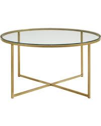 walker edison coffee table amazing deal on walker edison x base coffee table glass
