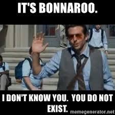 Bonnaroo Meme - i do not know you you do not exist sdfdsg meme generator