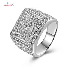 square style rings images Modern style platinum plated square shape men 39 s ring 925sterling jpg