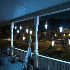 solar led tree hanging lights color changing balcony garden