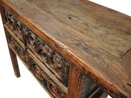 Antique Console Table Antique Carved Table With Drawers Custom Furniture Gallery