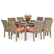 Stackable Outdoor Dining Chairs Kokomo Stackable 9pc Patio Dining Set Leaders Casual Furniture