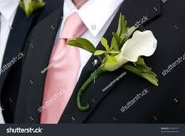 calla boutonniere white calla boutonniere on black stock photo 41293717