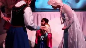lily meeting frozen characters