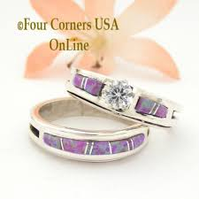 opal wedding ring sets pink opal engagement ring sets navajo wedding rings four