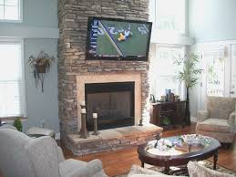 fireplace top tv above gas fireplace on a budget modern to home