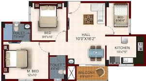 South Facing House Floor Plans Temple Waves Floor Plan Houses In Chennai 1 Bhk Houses In