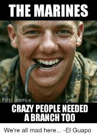 Memes About Crazy People - the marines po smoke crazy people needed a branch too we re all mad