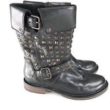 ugg womens grandle boots black ugg australia leather zip biker boots for ebay