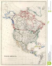 Map Of Nirth America by 19th Century Map Of North America Royalty Free Stock Image Image