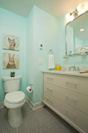 turquoise blue and gray kids bathroom transitional bathroom