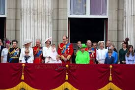 the royal family attends the trooping the colour parade