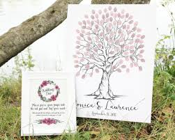 wedding trees wedding tree finger print tree printable wedding tree wedding
