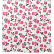 Pink Flower Shower Curtain Vintage Rose Pink Shower Curtains Zazzle
