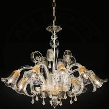 Murano Chandeliers Murano Chandelier Light ø700mm Antique Florentine Amber Glass