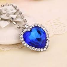 titanic blue heart necklace images Titanic heart of the ocean necklace berry stock jpg