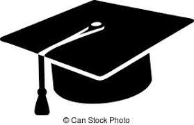 graduation sign graduate hat avatar symbol icon college or institute vector