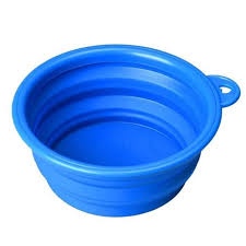 Super Deal dog bowl Dog Cat Pet Travel Bowl Silicone Collapsible