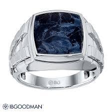 mens sterling rings images Ibg men 39 s sterling silver black pietersite ring jpg