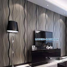3d simple stripe wave striped stripey non woven wallpaper home