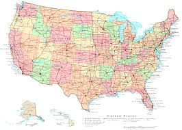road maps of the united states road map of us major tourist attractions maps