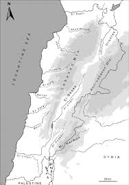 Map Of Lebanon Bats Mammalia Chiroptera Of The Eastern Mediterranean And
