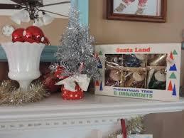 decorating a kitschy retro vintage christmas mantel