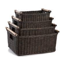 smartly walnut sizesshown basket wicker storage baskets and pole