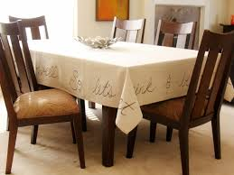 dining room table cloth how to make a handwritten tablecloth how tos diy