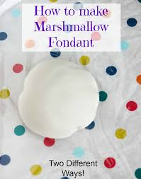 tutorial how to make marshmallow fondant two ways the cookie
