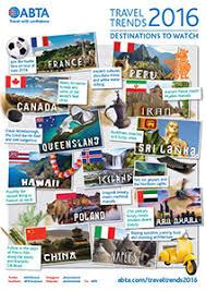 abta travel trends 2016 abta