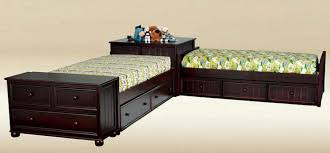 Twin Size Bed Frame With Drawers Brooklyn Twin Size Corner Storage Unit Beds