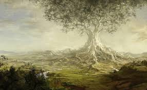 fantasy tree giant valley river roots art paintings 1805x1116