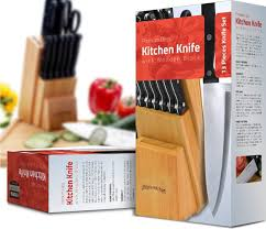 Uses Of Kitchen Knives by Amazon Com Utopia Kitchen 12 Knives Set With Wooden Block 430