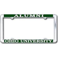 ohio alumni license plate frame ohio alumni license plate frame ohio