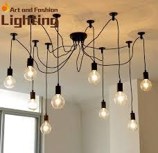 discount minimalist arts loft spider cord chandelier industrial