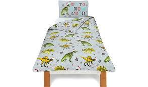 Dinosaur Double Duvet Christmas Dinosaur Duvet Cover Home U0026 Garden George