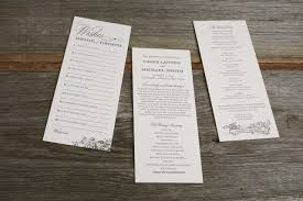 ceremony programs harvest inspired wedding ceremony programs and advice cards