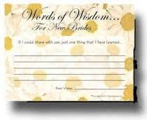 words of wisdom bridal shower bridal shower words of wisdom home kitchen