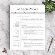 Resume Templates For Pages 5 Page Resume Template Ultra Chic By The Resume Boutique On