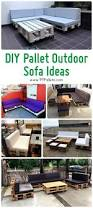 Patio Furniture Made Out Of Pallets by Diy Pallet Outdoor Sofa Ideas 99 Pallets
