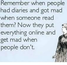 Read Me Me Me Online - remember when people had diaries and got mad when someone read them
