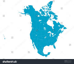 mexico america map america map including us mexico stock vector 23422498
