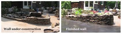 Building A Raised Patio With Retaining Wall by Borders And Retaining Walls Premier Ponds Dc Md Va Pond